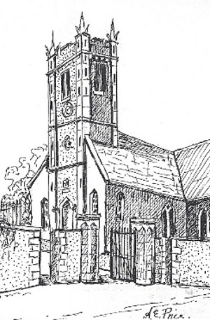 Delgany Church Sketch (Copyright A Price-Gallagher)