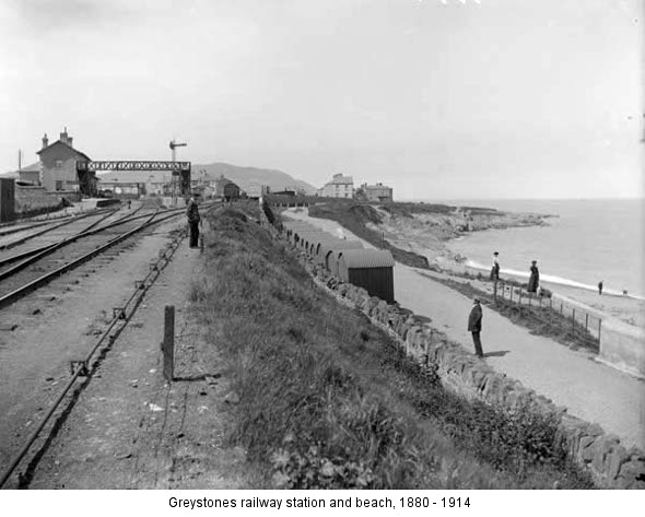 Greystones station and beach 1880 - 1914 (nli.ie)