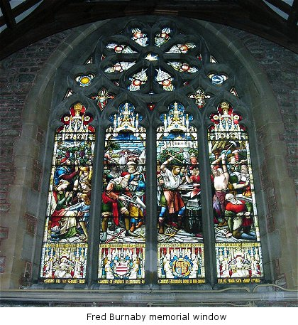 Fred Burnaby memorial window ((c) NA 2005 bedfordshire.gov.uk)